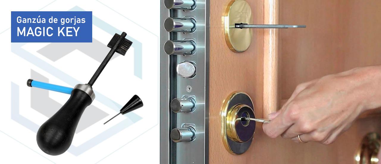 Herramientas sencillas de apertura de cerraduras de gorjas como la herramienta Magic Key